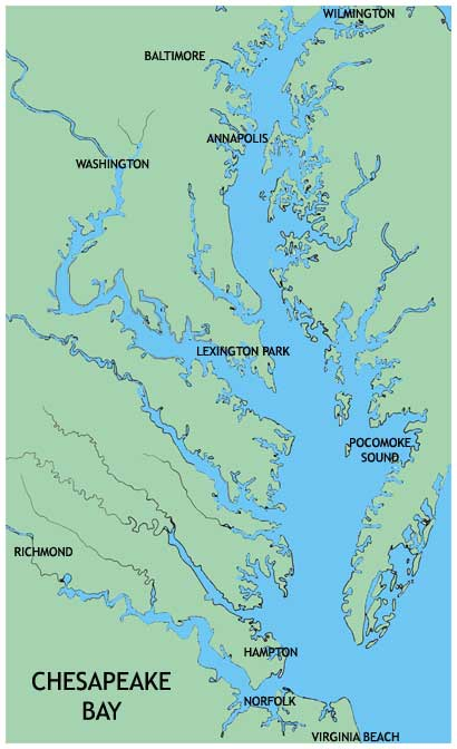 Ocean Marine Group Yacht Charters Chesapeake Bay Annapolis - Us map chesapeake bay